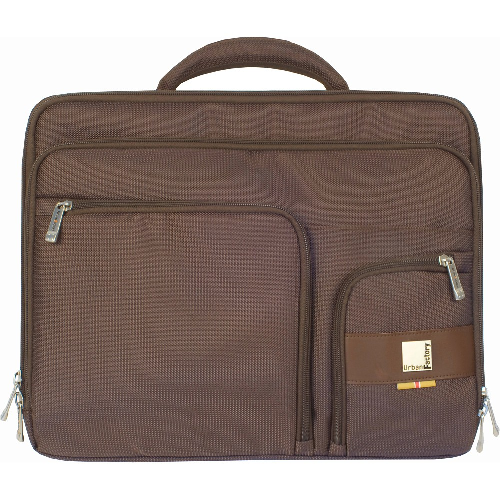 Urban Factory Moda Case for 15.6 Laptops - Brown (VQ9976) Carry your laptop and other essentials in the Moda Case for 15.6 Laptops - Urban Factory. With 2-way zipper closures, deep pockets and comfortable and adjustable shoulder straps, the laptop bag securely holds your laptop and school or work items with ease. The messenger bag is great for everyday use and travel. Color: Brown.