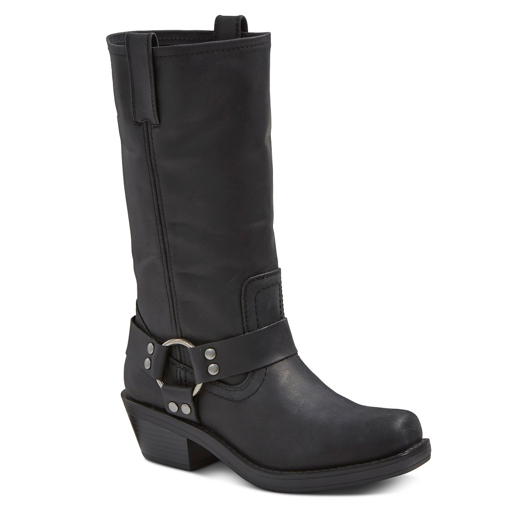 Womens Katherine Leather Engineer Boots - Mossimo Supply Co. Black 7.5