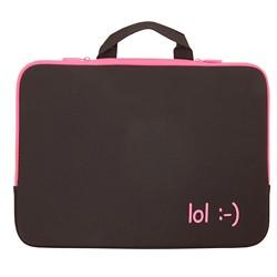 "Urban Factory 15.6"" Notebook Sleeve - Black/Pink (ZM5563)"