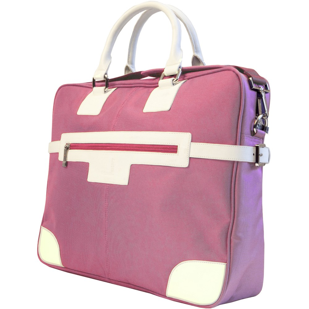 Urban Factory Vicky's Women's Bag for 15.6 Notebooks - Pink/White (VQ9961)