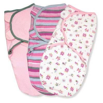 SwaddleMe® 3-pack Girly Bug (Small-Medium)