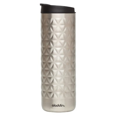 Aladdin Stainless Steel Textured Coffee Tumbler - Silver (16oz)
