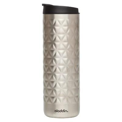Aladdin Stainless Steel Textured Coffee Tumbler - Silver (16oz)