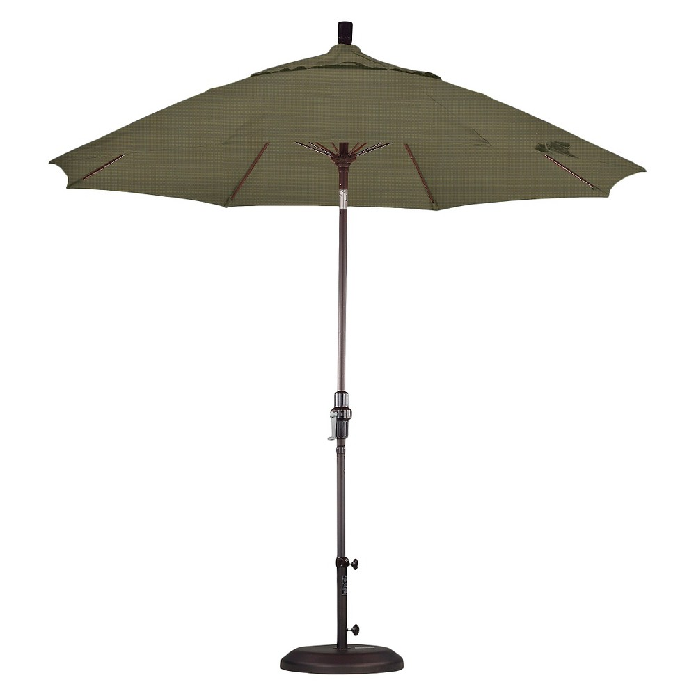 9' Aluminum Collar Tilt Patio Umbrella - Terrace Fern