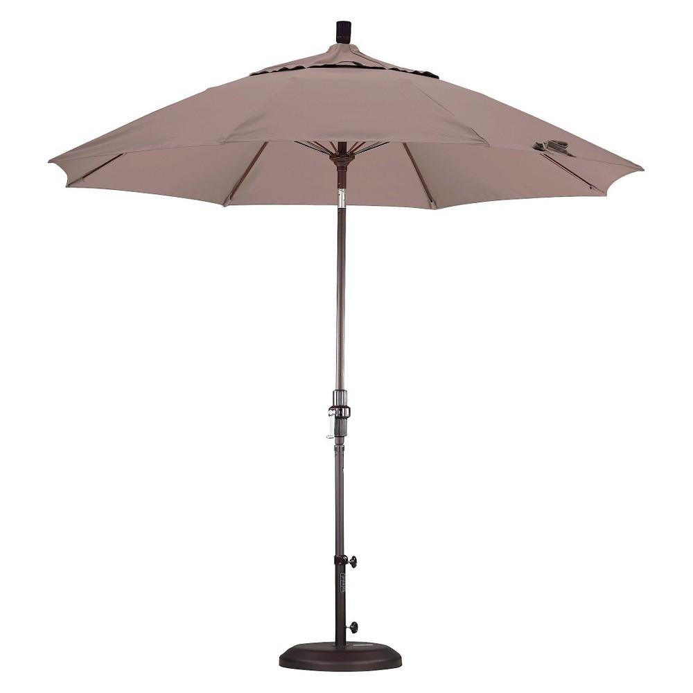 9' Aluminum Collar Tilt Patio Umbrella - Champagne (Beige)