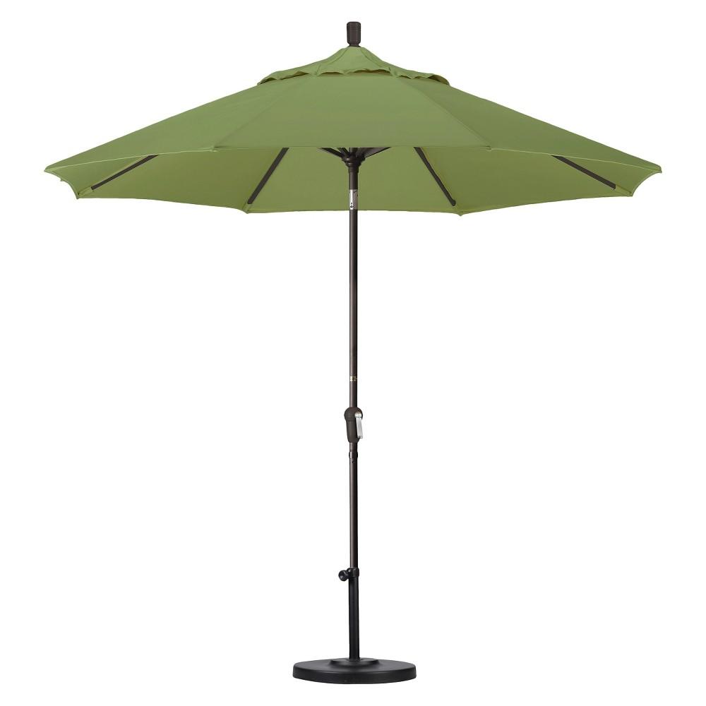 9' Aluminum Auto Tilt Patio Umbrella - Palm
