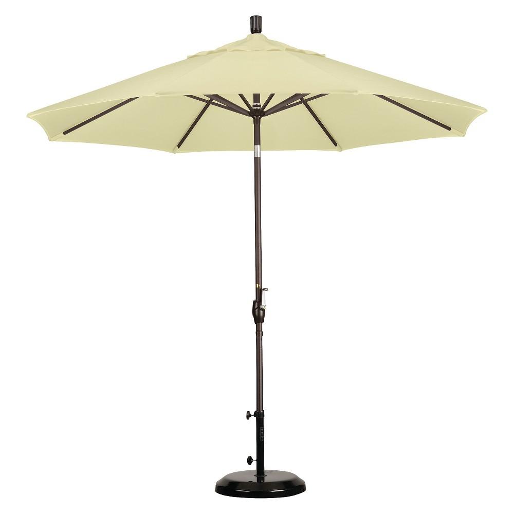 9' Aluminum Push Tilt Patio Umbrella - Canvas, Bronze/Canvas