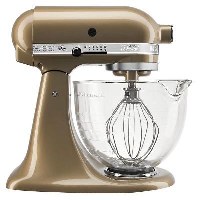 KitchenAid® Artisan® Design Series 5 Quart Tilt-Head Stand Mixer with Glass Bowl - KSM155GB