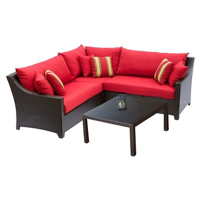RST Brands Deco 4 Piece Sectional And Table Set