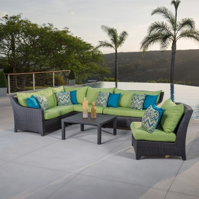 rst brands deco 6piece sectional and table set - Rst Brands
