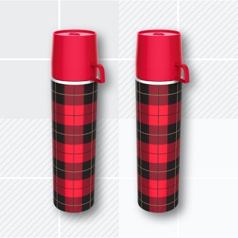 Red Picnip Vintage Style Flask - Fred