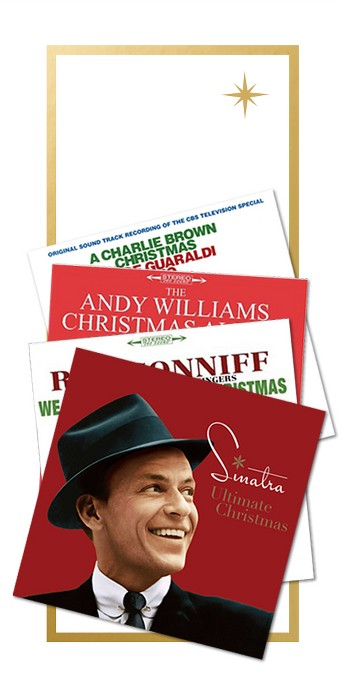 Frank Sinatra - Ultimate Christmas, Ray Conniff - We Wish You A Merry Christmas (Vinyl), Andy Williams - Andy Williams Christmas Album (Vinyl), Vince Guaraldi Trio – Charlie Brown Christmas (Vinyl) (Target Exclusive Green Vinyl with Poster), Johnny Mathis - Classic Christmas Album:Johnny Mathis (CD), Arthur fiedler - Christmas festival (CD), Christmas With Elvis Presley And The Royal Philharmonic Orchestra, Aretha Franklin - This Christmas Aretha (Vinyl), Johnny mathis - Sending you a little christmas (Vinyl)