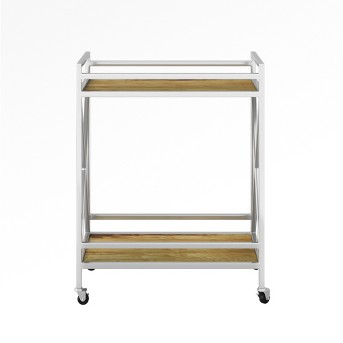 Maison Polished Chrome and Wood Bar Cart - Assembly Required - Project 62™