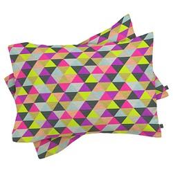 Bianca Green Ocean Of Pyramid Lightweight Pillowcase Standard White - Deny Designs®