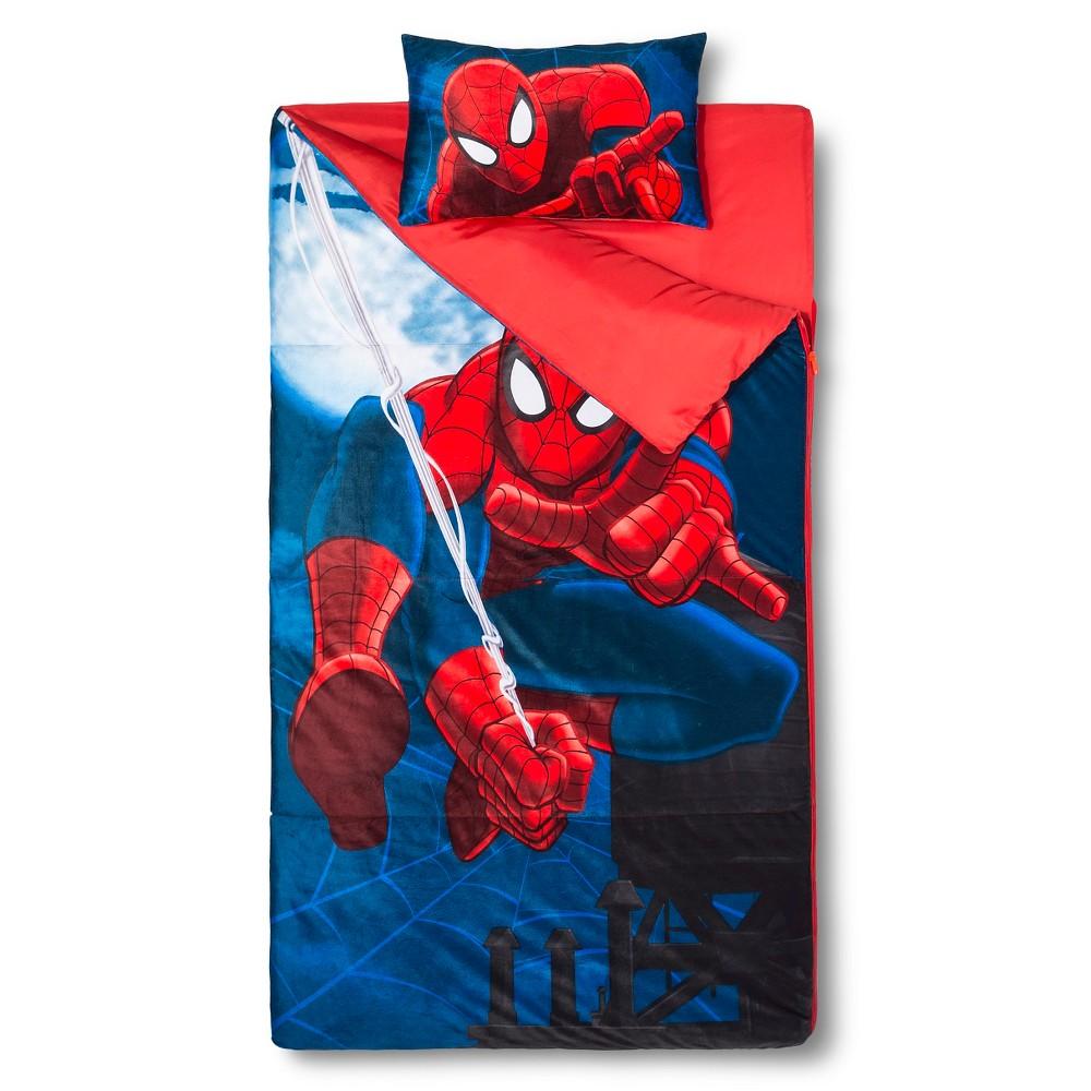 Spider-Man Sleeping Bag 45 Degrees Fahrenheit, Blue