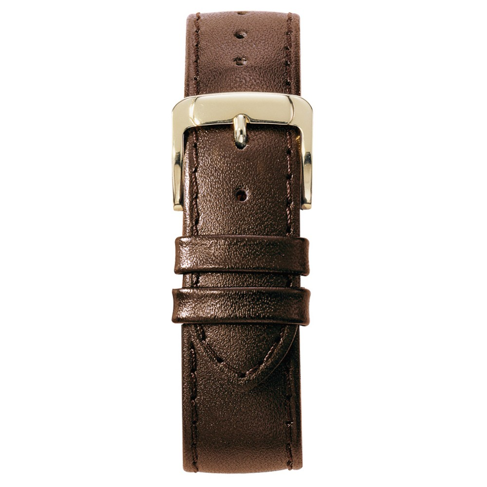 Speidel Leather Replacement Watchband Fits 18mm - Brown, Adult Unisex