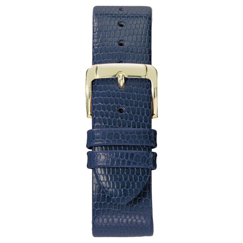 Speidel Lizard Grain Replacement Watchband Fits 18mm - Blue, Adult Unisex