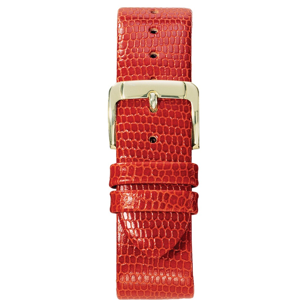 Speidel Lizard Grain Replacement Watchband Fits 16mm - Red, Adult Unisex