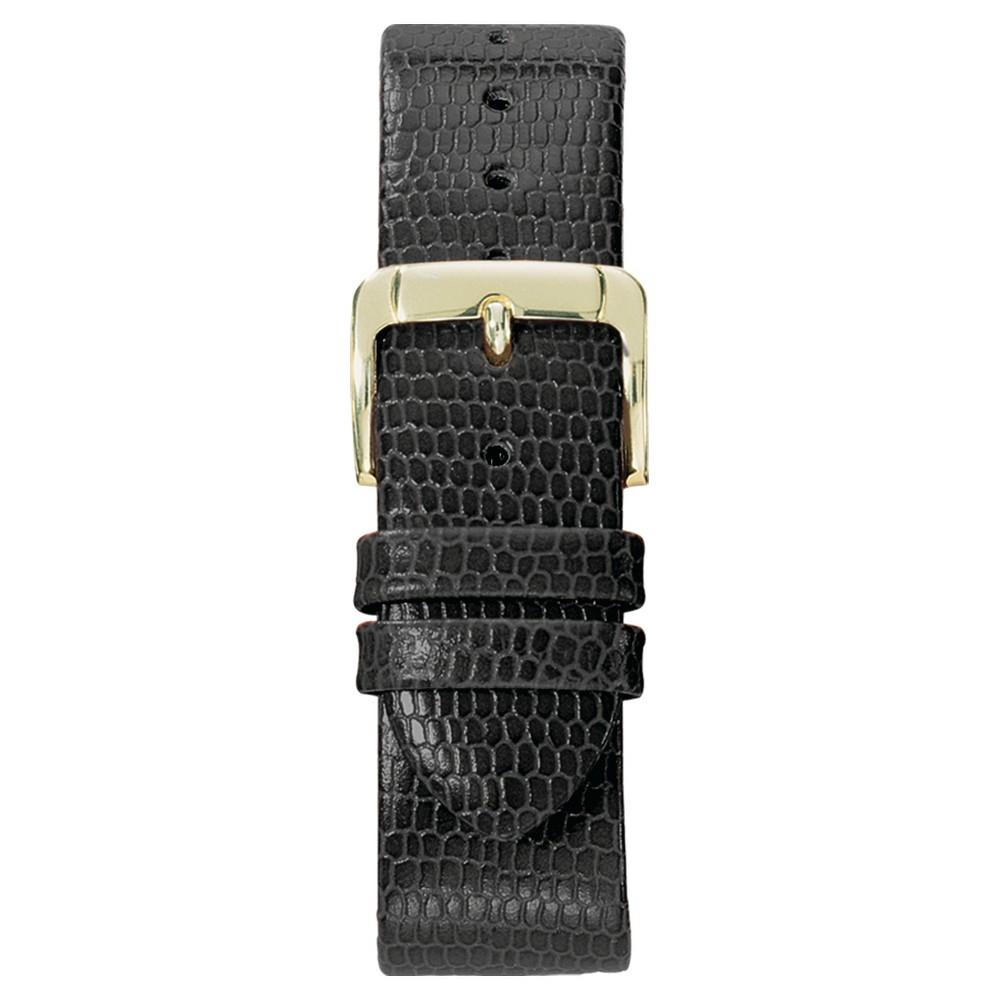 Speidel Lizard Grain Replacement Watchband Fits 18mm - Black, Adult Unisex