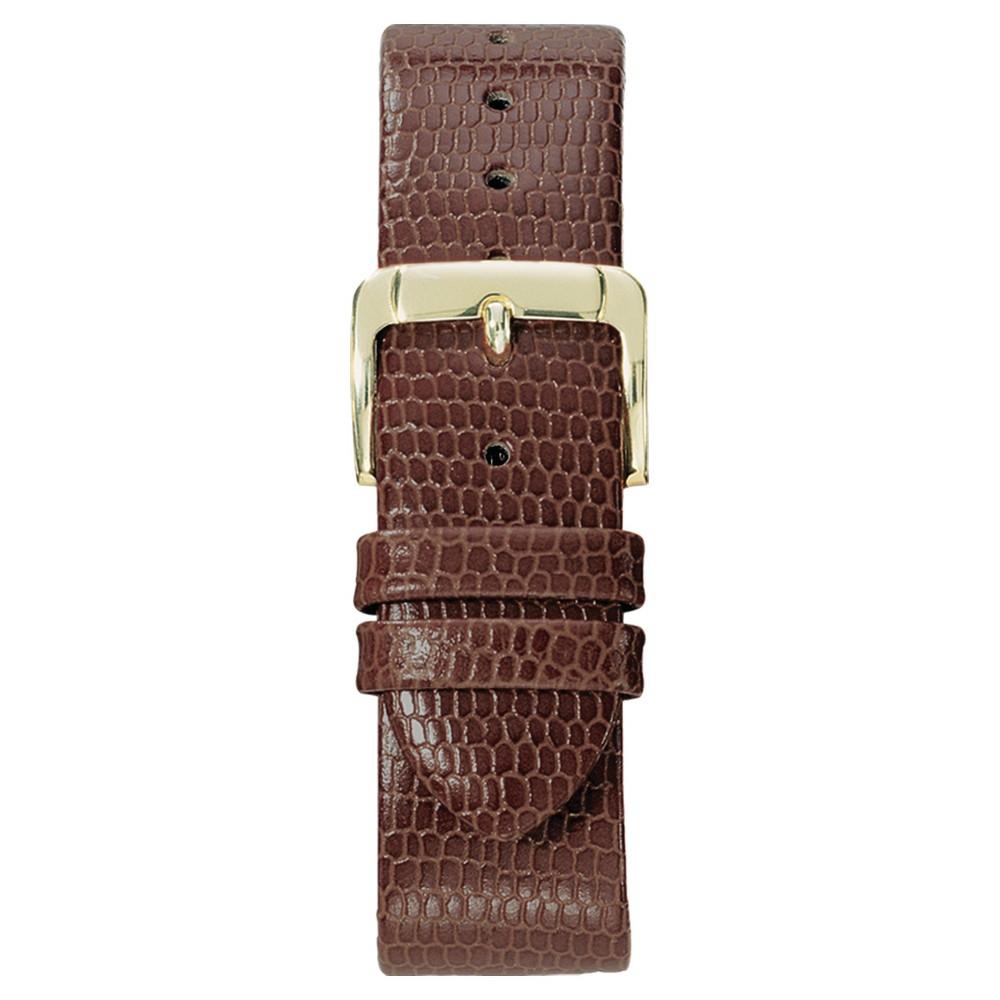 Speidel Lizard Grain Replacement Watchband Fits 16mm - Brown, Adult Unisex