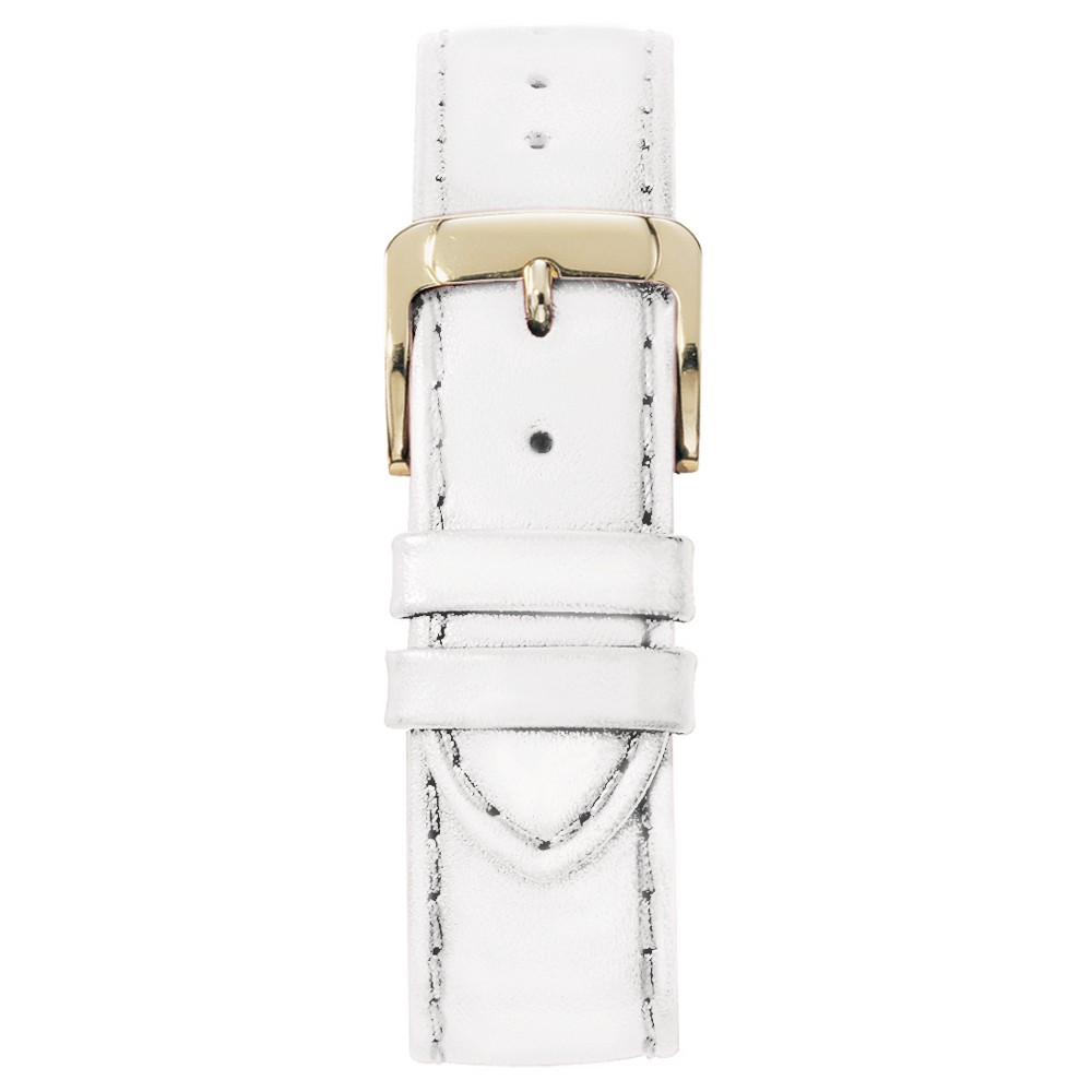 Speidel Stitched Calfskin Replacement Watchband Fits 16mm - White, Adult Unisex