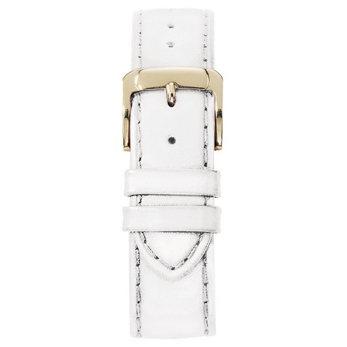 Speidel® Stitched Calfskin Replacement Watchband Fits 10mm - White - image 1 of 1