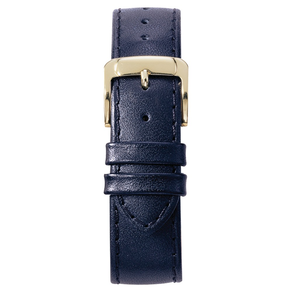 Speidel Stitched Calfskin Replacement Watchband Fits 14mm - Navy, Womens, Blue