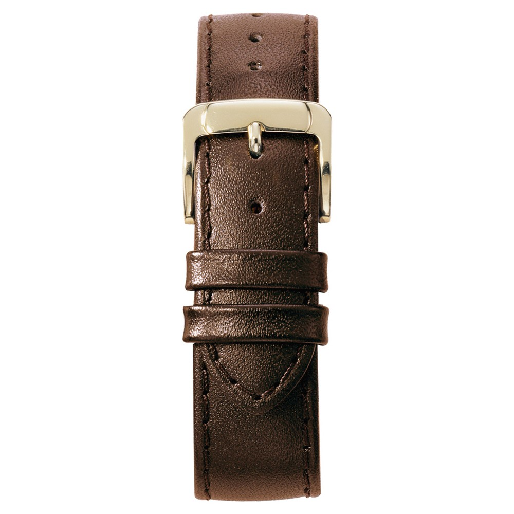 Speidel Stitched Calfskin Replacement Watchband Fits 14mm - Brown, Womens