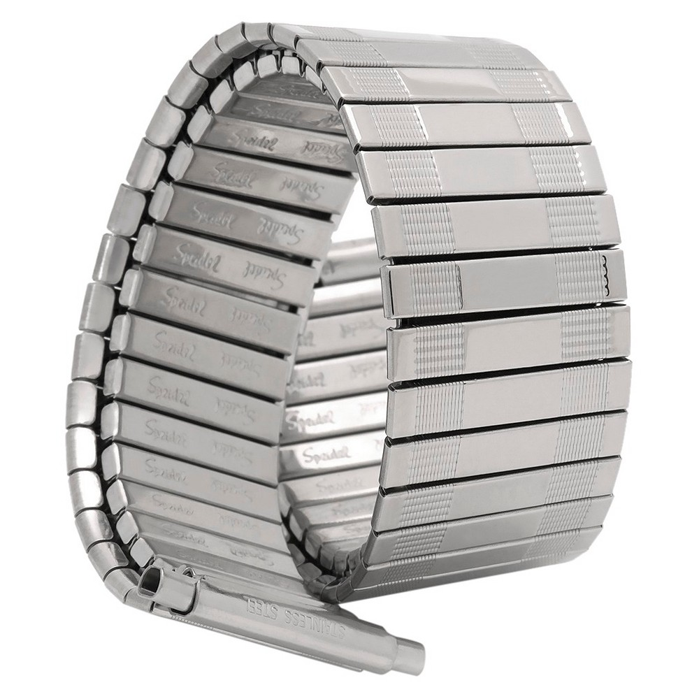 Speidel Express Metal Expansion Replacement Watchband Fits 18 to 22mm - Silver, Adult Unisex