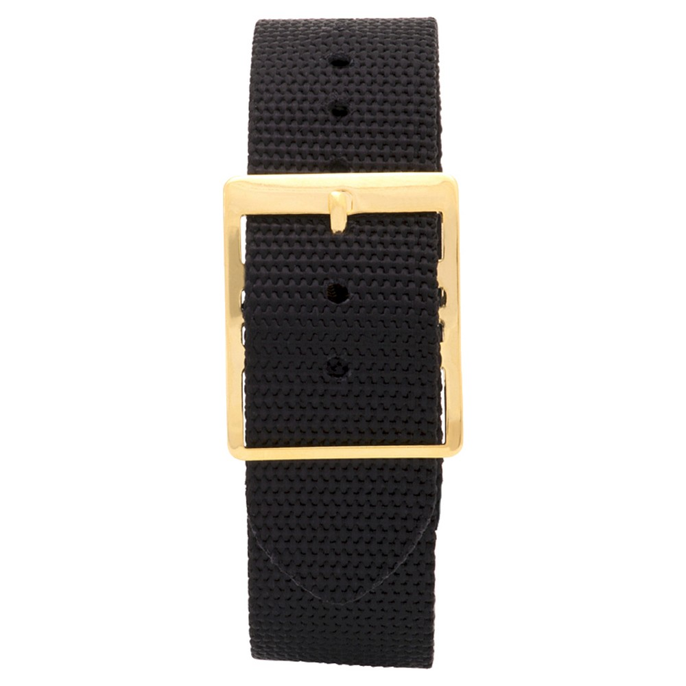 Speidel Express Synthetic Replacement Watchband Fits 18mm - Black, Adult Unisex