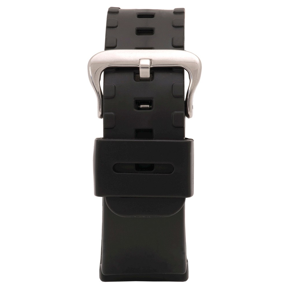 Speidel Express Synthetic Replacement Watchband Fits 16mm - Black, Adult Unisex