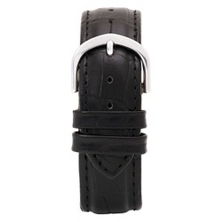Speidel® Express Leather Crocodile Pattern Replacement Watchband Fits 20mm - Black