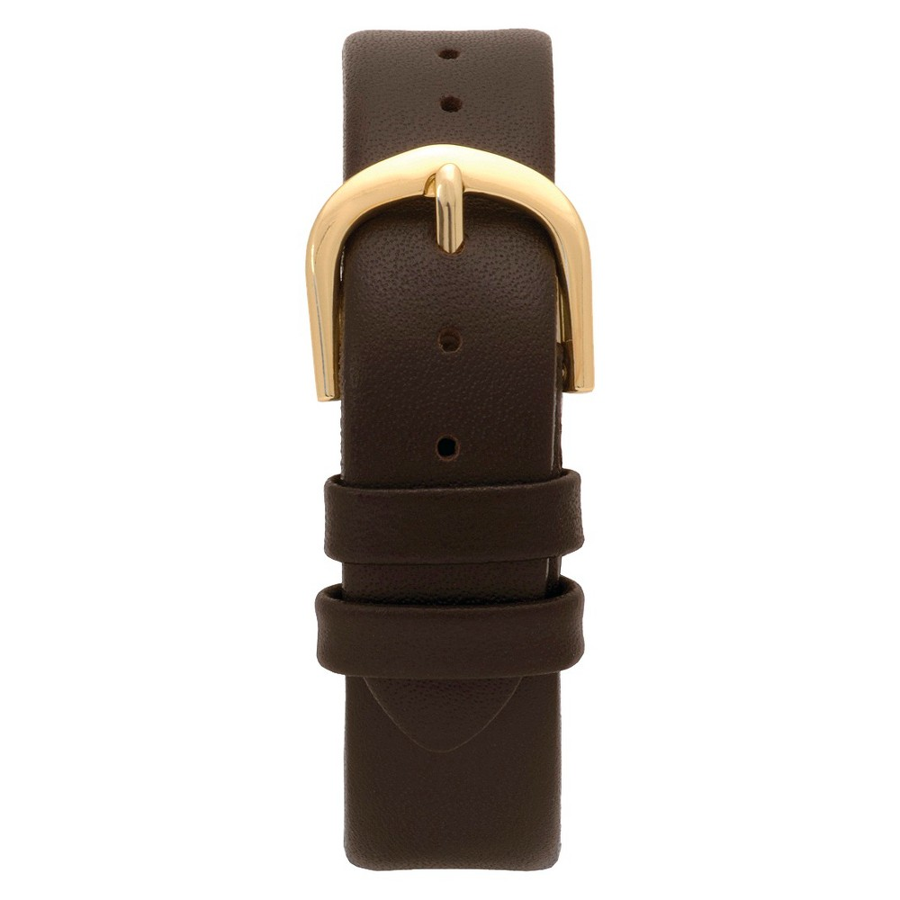 Speidel Express Leather Replacement Watchband Fits 10mm - Brown, Womens