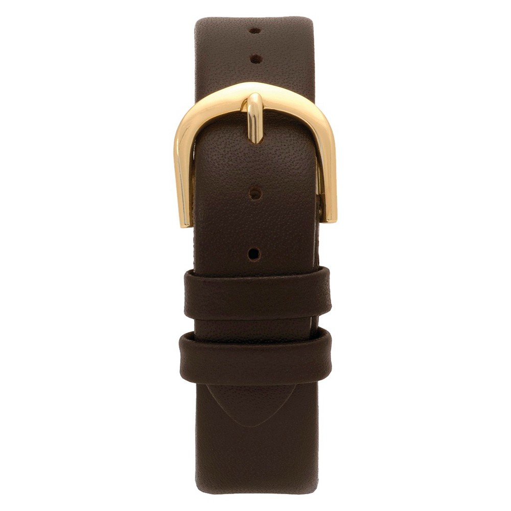 Speidel Express Leather Replacement Watchband Fits 16mm - Brown, Adult Unisex