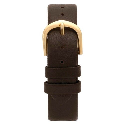 Speidel Express Leather Replacement Watchband Fits 18mm - Brown, Adult Unisex