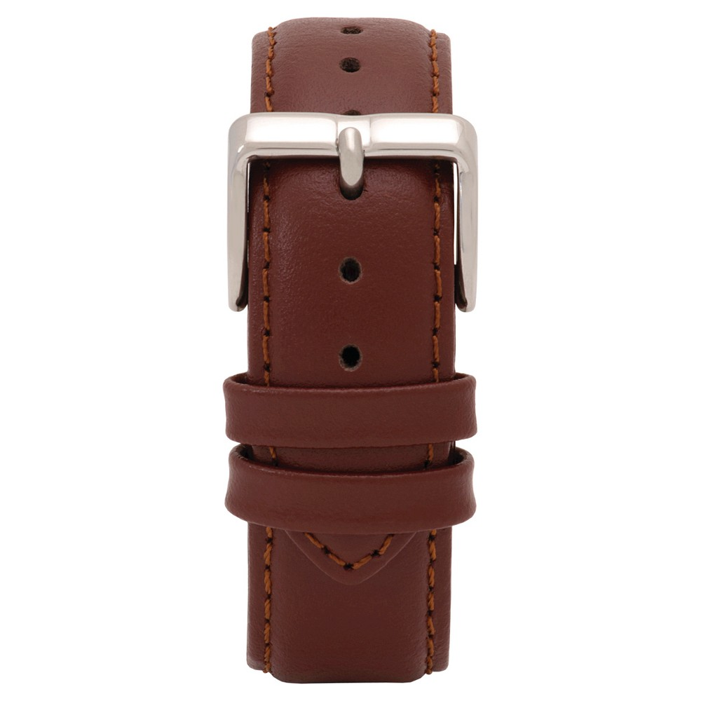 Speidel Express Leather Replacement Watchband Fits 19mm - Brown, Adult Unisex