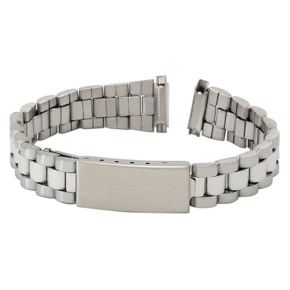 Speidel Express Metal Buckle Replacement Watchband Fits 11 to 14mm - Silver, Womens