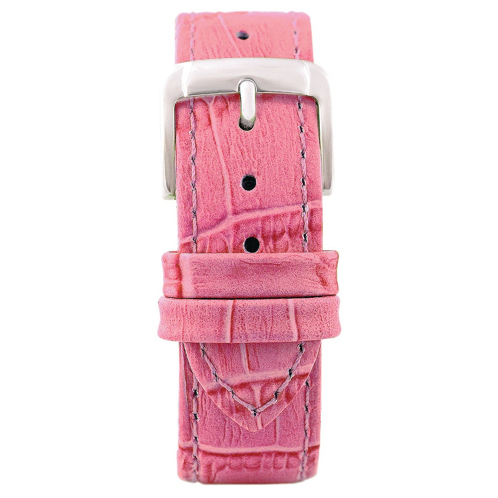 Speidel Leather with Alligator Pattern Replacement Watchband Fits 18mm - Pink, Womens
