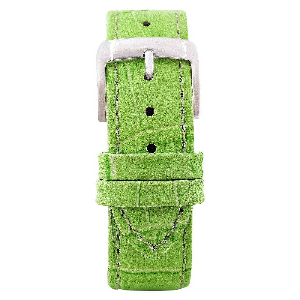 Speidel Leather with Alligator Pattern Replacement Watchband Fits 16mm - Green, Womens