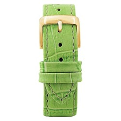 Speidel® Leather with Alligator Pattern Replacement Watchband Fits 18mm - Green