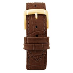 Speidel® Leather with Alligator Pattern Replacement Watchband Fits 20mm - Brown