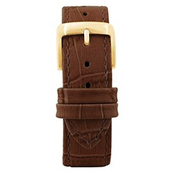 Speidel® Leather with Alligator Pattern Replacement Watchband Fits 22mm - Brown