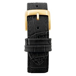Speidel® Leather with Alligator Pattern Replacement Watchband Fits 18mm - Black
