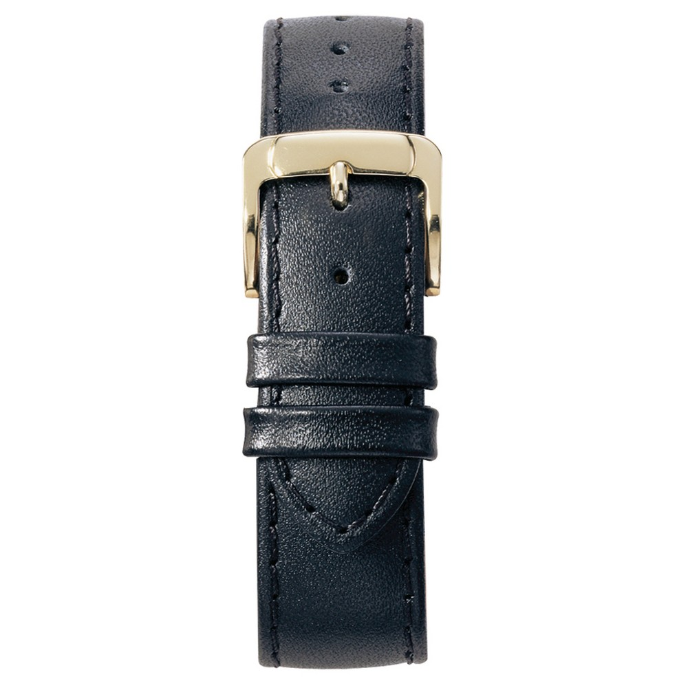 Speidel Stitched Calfskin Replacement Watchband Fits 12mm - Black, Womens