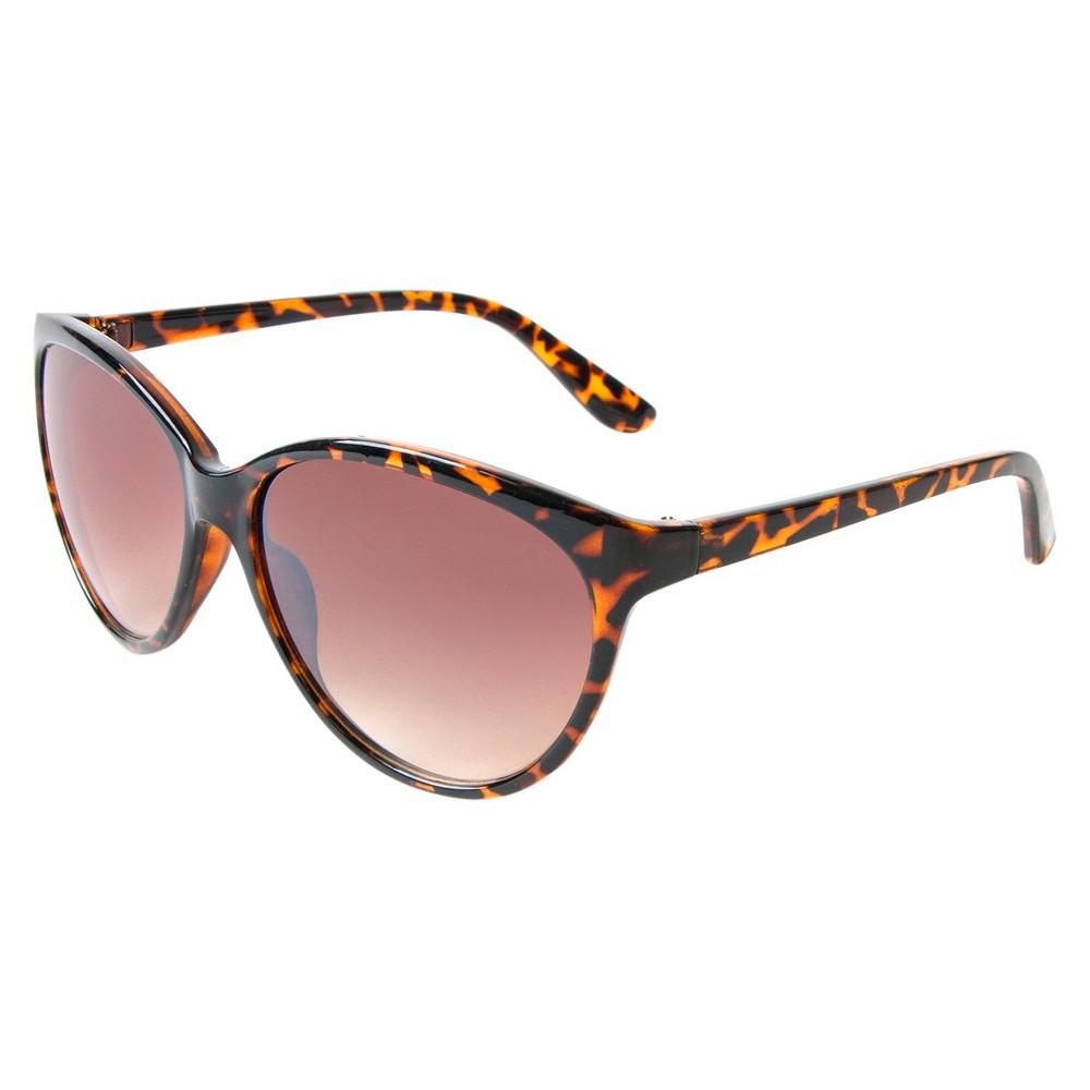 Womens Cateye Sunglasses- Tortoise, Brown