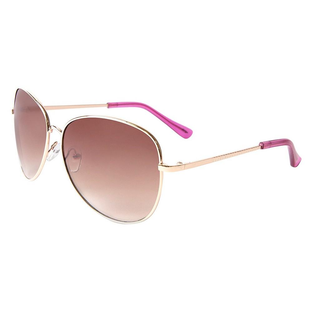 Womens Aviator Sunglasses- Rose Gold