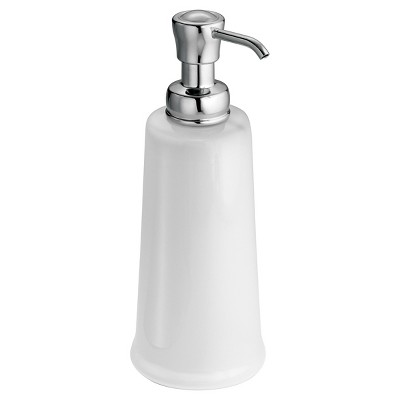 InterDesign York Ceramic Soap Pump - White/Chrome (12 oz.)