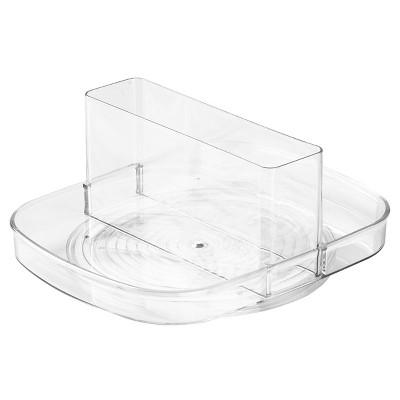 InterDesign Linus Plastic Spinning Napkin & Condiment Holder - Clear