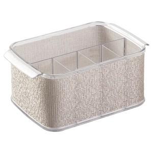 InterDesign Twillo Flatware Caddy - Metallic/Clear (10), Silver/Clear