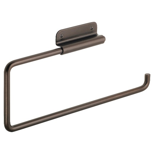 Wall Mounted Paper Towel Holder interdesign swivel wall mount steel paper towel holder - bronze